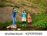 the children happy outdoors... | Shutterstock . vector #419395060
