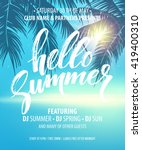 vector summer party poster... | Shutterstock .eps vector #419400310