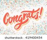 congrats  congratulations... | Shutterstock .eps vector #419400454