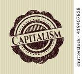 capitalism rubber grunge seal | Shutterstock .eps vector #419407828