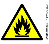 flammable material warning sign ... | Shutterstock .eps vector #419409160