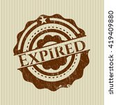 expired rubber seal with grunge ... | Shutterstock .eps vector #419409880