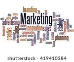 marketing  word cloud concept... | Shutterstock . vector #419410384
