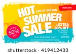hot summer sale template banner | Shutterstock .eps vector #419412433