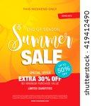 summer sale template banner | Shutterstock .eps vector #419412490