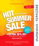 hot summer sale template banner | Shutterstock .eps vector #419412568