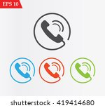 telephone receiver icon.phone... | Shutterstock .eps vector #419414680