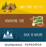 vector set of camping banners... | Shutterstock .eps vector #419414914