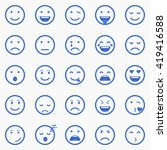 set of emoticons  emoji and... | Shutterstock .eps vector #419416588