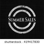summer sales chalk emblem... | Shutterstock .eps vector #419417830