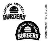 set of badges  banner  labels... | Shutterstock .eps vector #419419288