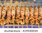 grilled squid most popular... | Shutterstock . vector #419430034