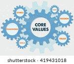 core values  teamwork  ethics ...   Shutterstock .eps vector #419431018