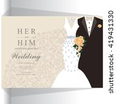 wedding invitation or card with ... | Shutterstock .eps vector #419431330