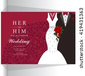 wedding invitation or card with ... | Shutterstock .eps vector #419431363
