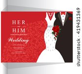 wedding invitation or card with ... | Shutterstock .eps vector #419431369