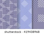 set of 3 abstract patterns.... | Shutterstock .eps vector #419438968