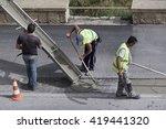 italy  sicily  12 may 2016  men ... | Shutterstock . vector #419441320