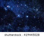 Deep Blue Space Background...