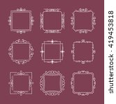 set of elegant monogram designs.... | Shutterstock .eps vector #419453818