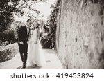 wedding day walk | Shutterstock . vector #419453824