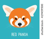 Abstract Cartoon Red Panda Bea...