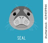 abstract seal head isolated on... | Shutterstock .eps vector #419459944