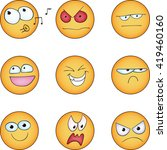 emoticon   set   vector... | Shutterstock .eps vector #419460160