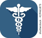 icon representing medicine and... | Shutterstock .eps vector #419461873