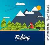 fishing banner. fishing concept.... | Shutterstock .eps vector #419468188
