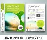 flyers design template vector.... | Shutterstock .eps vector #419468674