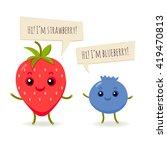 vector happy fruits. | Shutterstock .eps vector #419470813