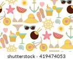 colorful seamless summer... | Shutterstock .eps vector #419474053