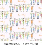 seamless pattern of the people... | Shutterstock .eps vector #419474320