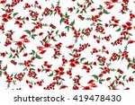 trendy seamless floral ditsy... | Shutterstock .eps vector #419478430