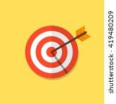 abstract target flat design... | Shutterstock .eps vector #419480209