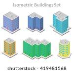 set of different isometric... | Shutterstock .eps vector #419481568