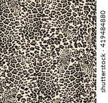 little leo print   seamless... | Shutterstock .eps vector #419484880