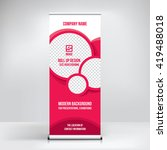 banner roll up design  business ... | Shutterstock .eps vector #419488018