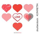 set heart love icon. | Shutterstock .eps vector #419498794