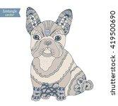 french bulldog dog zentangle... | Shutterstock .eps vector #419500690