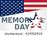 memorial day. memorial day... | Shutterstock .eps vector #419502910