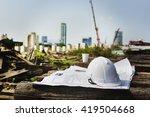 construction worker planning... | Shutterstock . vector #419504668