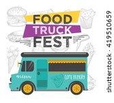 food truck festival menu food... | Shutterstock .eps vector #419510659
