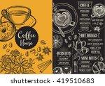 coffee menu placemat food... | Shutterstock .eps vector #419510683