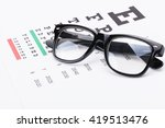 table for eyesight test with... | Shutterstock . vector #419513476