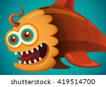 comic fish illustration. vector ...   Shutterstock .eps vector #419514700