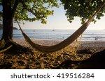 Small photo of Sleeping net in Sono Beach, near Paraty, south of Rio de Janeiro, Brazil