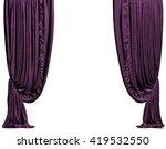 Purple Curtain. Isolated On...
