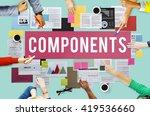 components circuit capacitor... | Shutterstock . vector #419536660